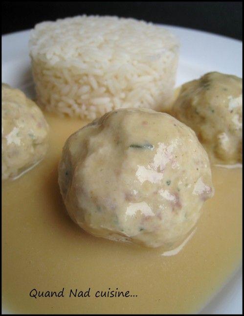 Boulettes de Poulet sauce moutarde