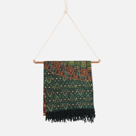 Shanti Decor - Floral Block Printed Throw