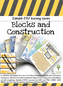 A collection of templates for you to use when documenting block and construction experiences. Plus bonus-Under Construction Signs to use to hang over work children are still completing.