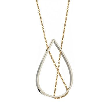 Petal Necklace Silver, $135, now featured on Fab.  Vanessa Gade