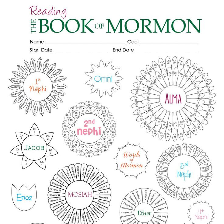 Book of Mormon reading chart. This is going to be perfect for my little artist/ BOM lover!