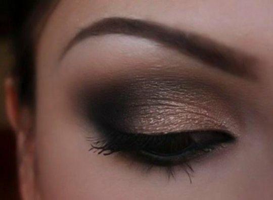 maquillage original pour les yeux marrons