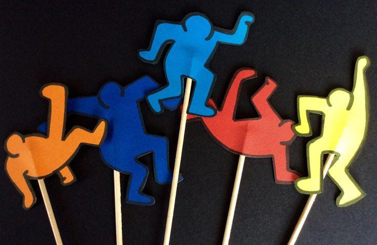 Party pop art, Favolosi anni 80,cake topper, party, 80's di spremutadipois su Etsy