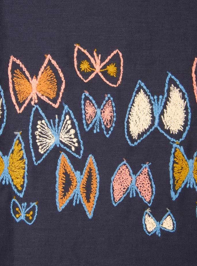 Minä Perhonen - Sky Flower Embroidered Smock Dress