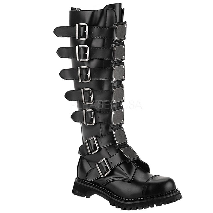 Reaper 30 Black Leather [REA30/B/LE] - £167.95 : Fiendish Fetish Shoes   Dare To Stand Out In The Crowd