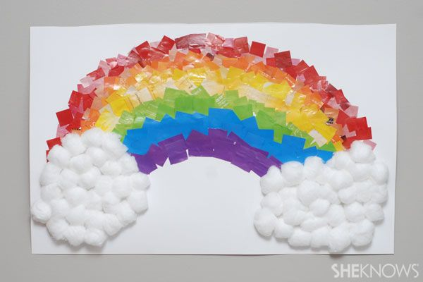 Rainbow collage St. Patrick's Day craft for kids