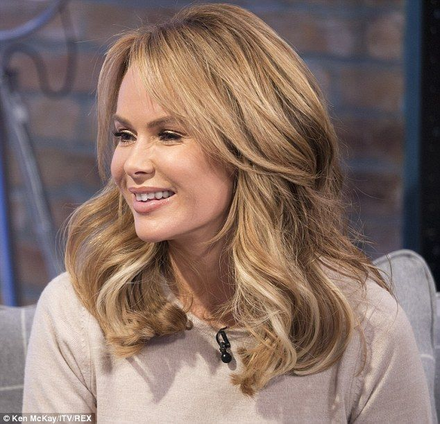 Fresh faced: The 44-year-old was in great spirits as she presented the programme alongside...
