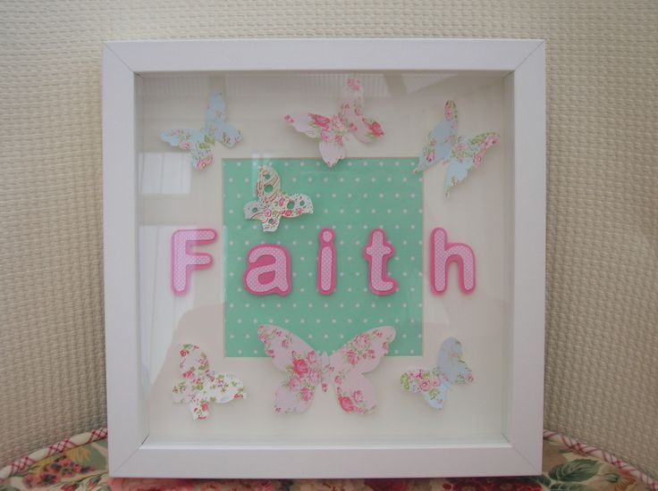 Faith and butterfly box frame picture I made for a special sister.