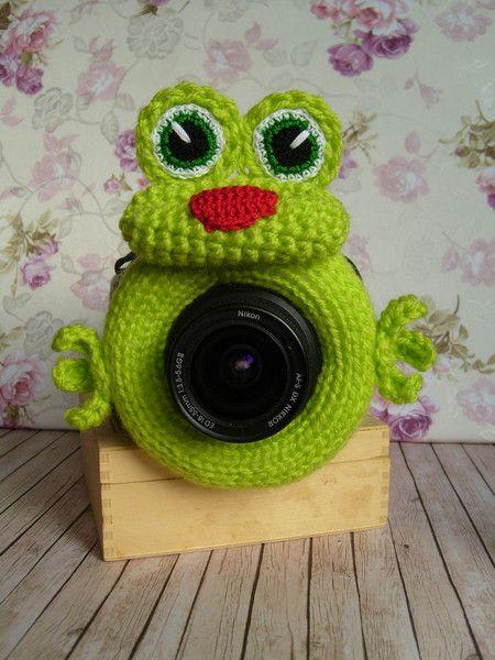 Weiteres - Frosch Kamerazubehör. Objektivtier,  Digitalkamera - ein Designerstück von Mirapija bei DaWanda