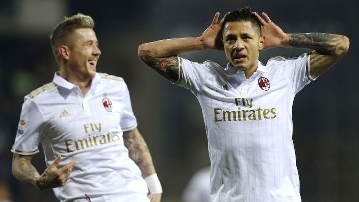 Gianluca Lapadula scored two for AC MIlan in a runaway win against Empoli in Serie A.