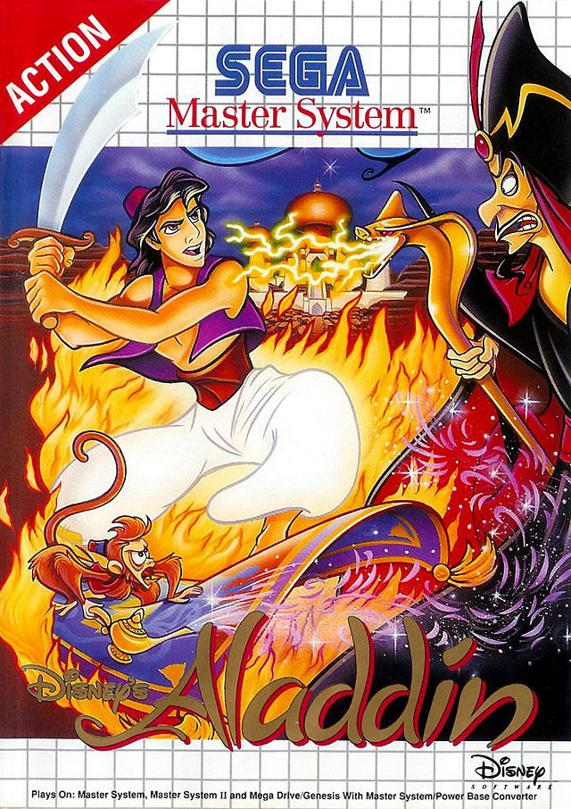 Pin by grumpygumpy on video games | Sega master system, Aladdin game