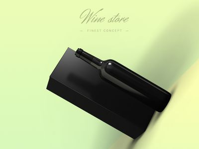 Freebie PSD: Wine store concept