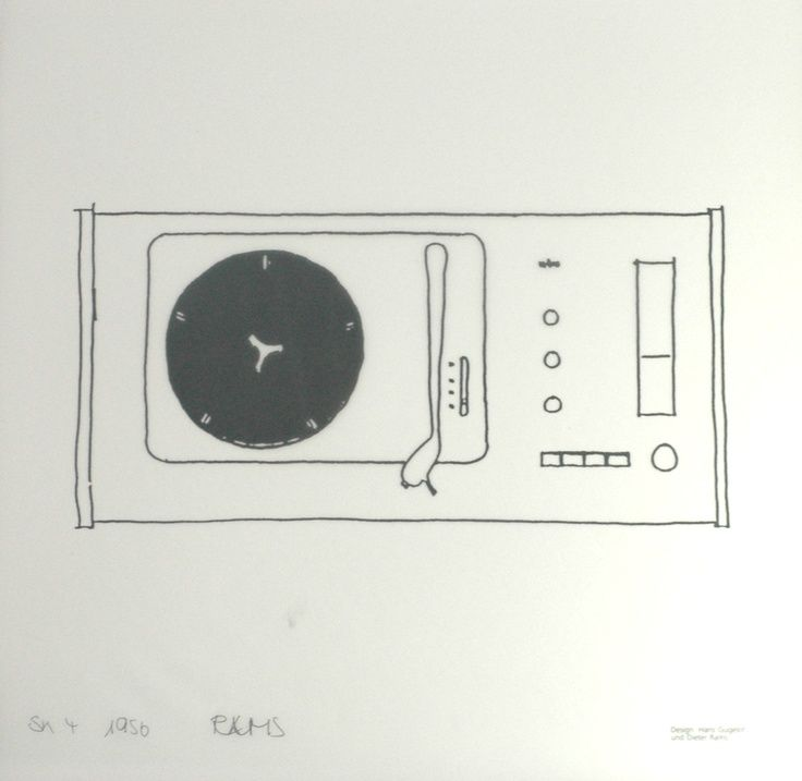 The initial sketch presenting ideas _braun sketch