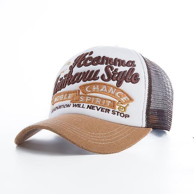 Rhandz Unisex Trend Quality Baseball Cap Spring Mesh Snapback Noble Spirit High-end Embroidery