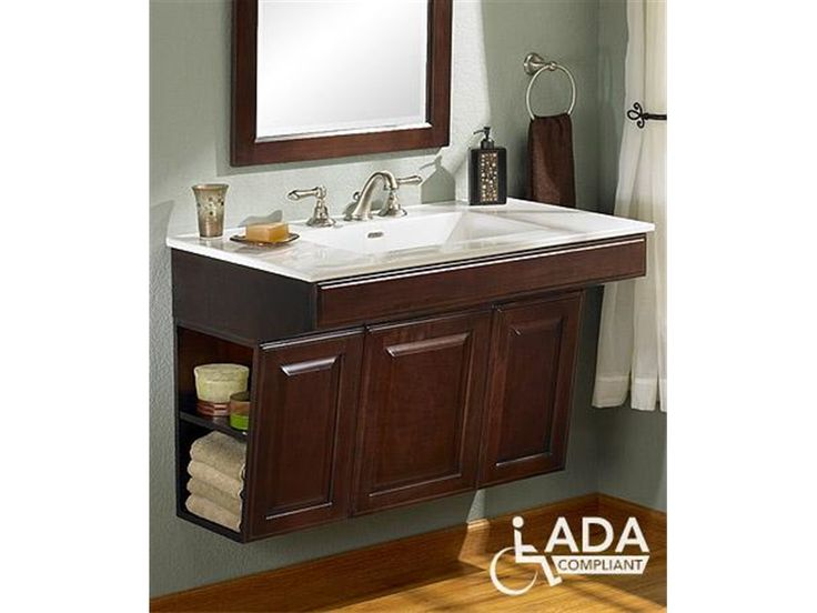 Wheelchair Bathroom Sink : about handicap bathroom on Pinterest Bathroom vanity tops, Bathroom ...