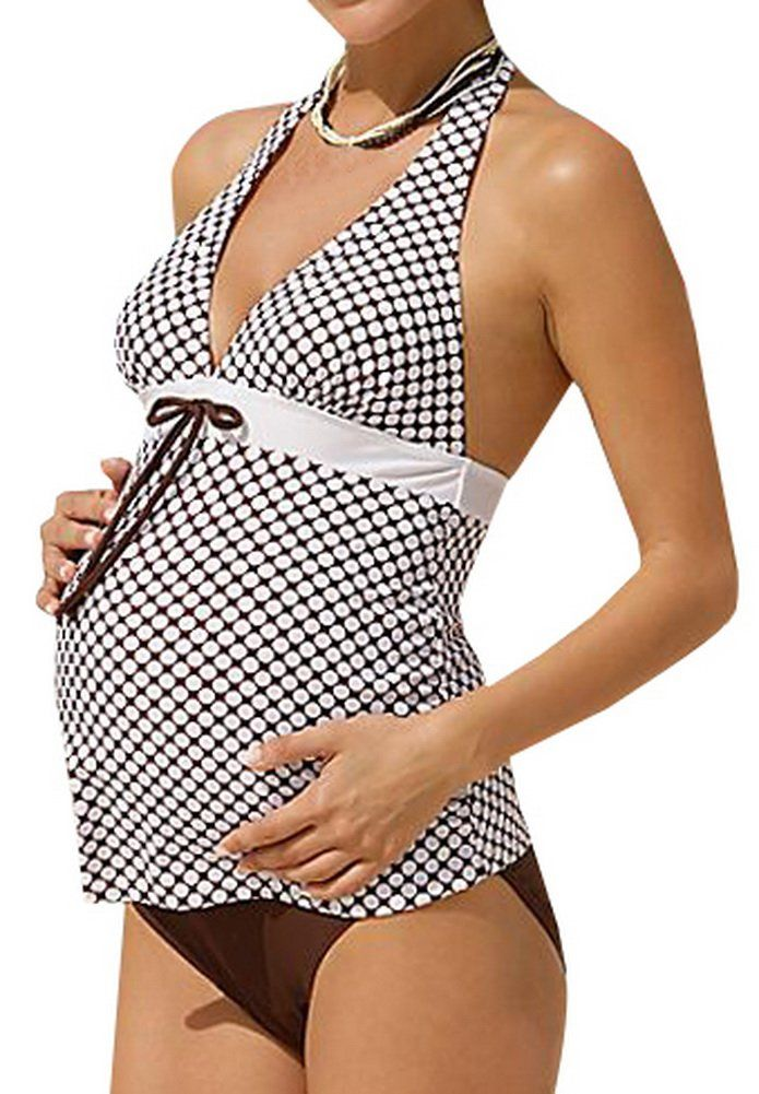 85259c7ecc1 Women Maternity Clothes - Foucome Maternity Swim Tankini and Bottom 2Piece Set  Pregnant Women Dot Bathing Swimsuit Set ** Check out the image by checking  ...