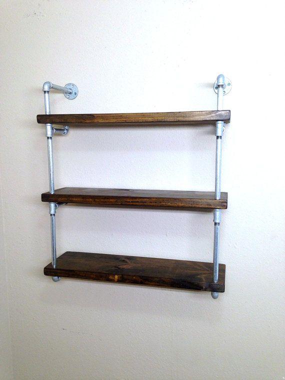 Wall shelving bookcase, Kids room and playroom shelving, kitchen shelf, bathroom storage shelf, industrial rustic shelf, custom shelving