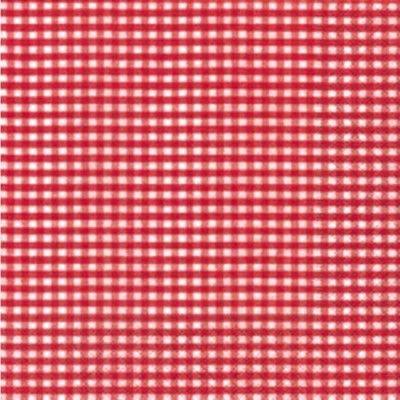 Serviettes vichy rouge - 20 serviettes
