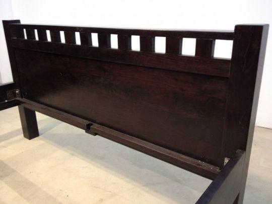 Kolonial Bett 160x200cm Massiv Mit Bildern Dunkelbraune Mobel