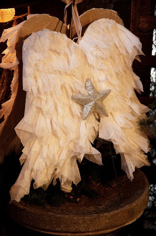 Handmade Angle Wings.  Cute for Lucy's room or for Christmas decor.
