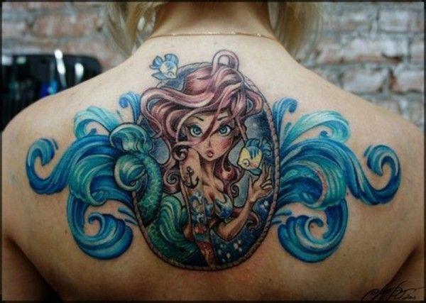 Little Mermaid tattoo.