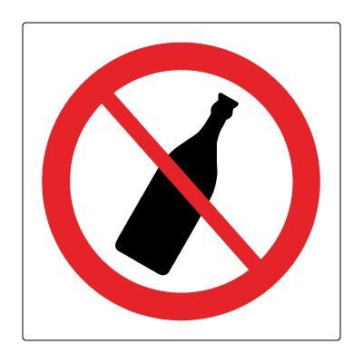 Flasker forbudt - Kjøp Forbudsskilt her