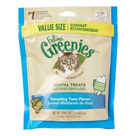 Feline Greenies Dental Natural Cat Treats Tempting Tuna Flavor 5 5 Oz Pouch Walmart Com Dental Treats Natural Cat Treats Greenies