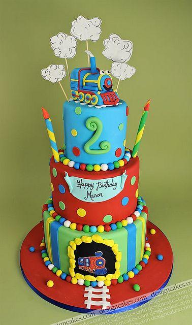 Mom designs Aldo's birthday cake....Train birthday cake by Design Cakes, via Flickr