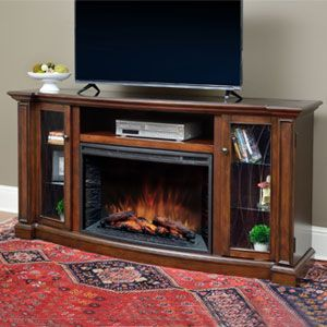 Wellsley Infrared Electric Fireplace Entertainment Center in Toasted Almond- CS-33MM-CHR