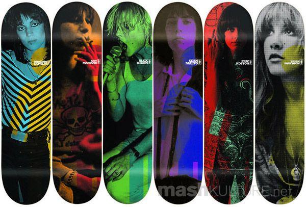 girl skateboards #dreadstop Joan Jett, Chrissy Hynde, Debbie Harry, Patti Smith, Grace Slick, and Stevie Nicks
