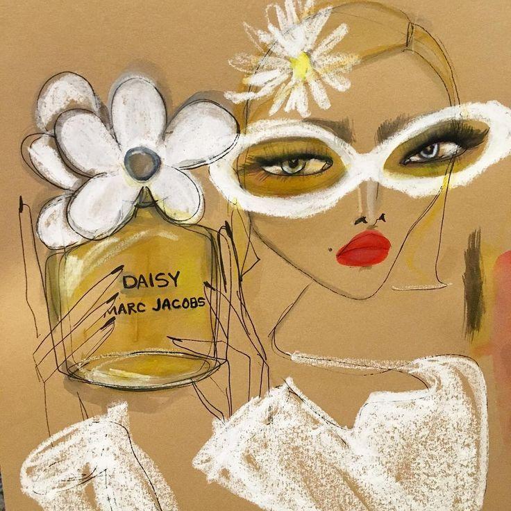 Marc Jacobs Daisy Illustration by Blair Breitenstein