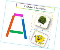 Les lettres de l'alphabet avec les réglettes Cuisenaire