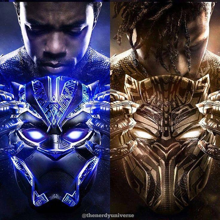 T Challa And N Jadaka Black Panther Zeichnungen