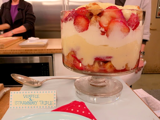 waffle & strawberry trifle | Food | Pinterest