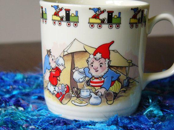 Noddy and Big Ears Mug ... English China ... by DecorativeVintage