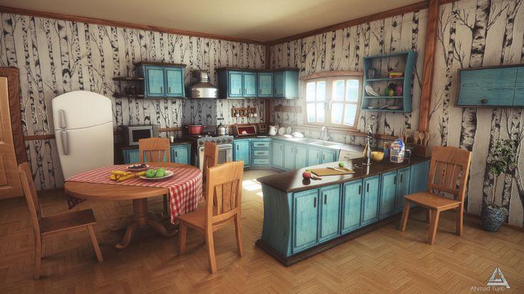 Cartoon kitchen by on deviantart for 3d wallpaper for kitchen