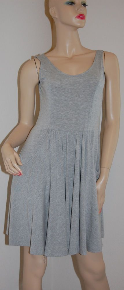 Medium XL Jersey Swimsuit Cover Up Grey Swimsuit Cover Up Tunic Dress J Valdi #JValdi #CoverUp