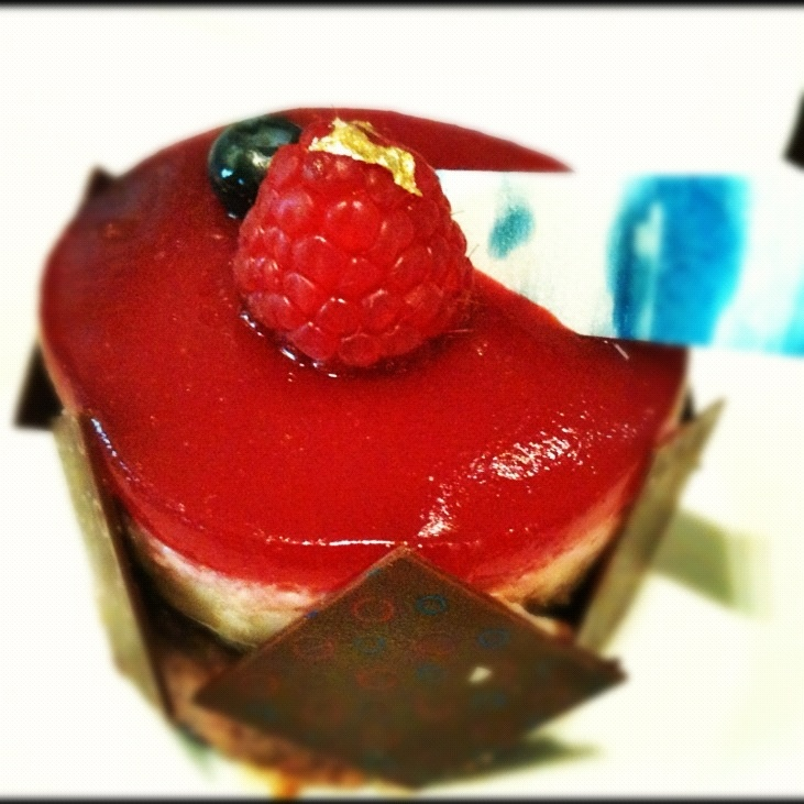 Raspberry Cheese Mousse at St. Regis Hotel (Bangkok)