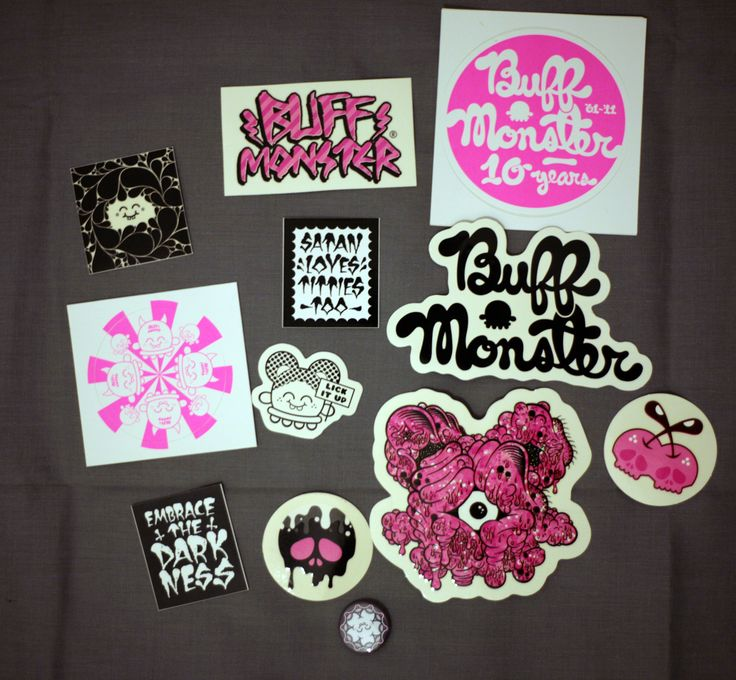 Buff Monster Sticker Pack-2011