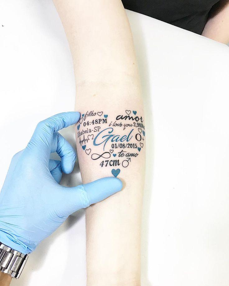 """9,374 curtidas, 435 comentários - Carlos Eduardo (@cabelotattoo) no Instagram: """"Homenagem ao Filho Gael, Tatuagem da amiga Cris. @cabelotattoo #tattooilhabela #cabelotattoo…"""""""