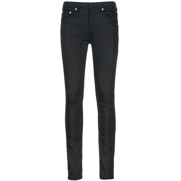 Neil Barrett Super skinny fit jeans (32.010 RUB) ❤ liked on Polyvore featuring men's fashion, men's clothing, men's jeans, black, mens cuffed jeans, mens skinny jeans, mens skinny fit jeans and mens super skinny jeans