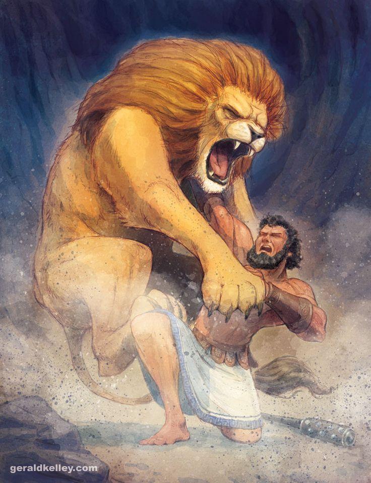 hercules vs nemean lion - 736×958