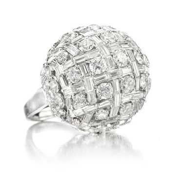 A Diamond Dome Ring, by Harry Winston, circa 1950. Via FD Gallery, www.fd-inspired.com