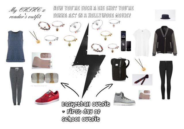 """X reader's outfit OHSHC"" by willowokimaw on Polyvore featuring Topshop, Giuliana Romanno, Diemme, Oak, Puma and Pandora"