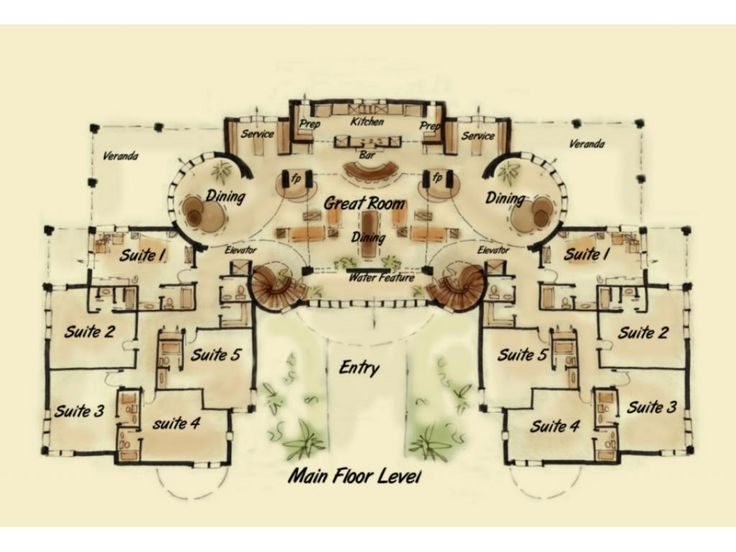 Bed and breakfast inn chateau case e interior design - Bed and breakfast design floor plans ...