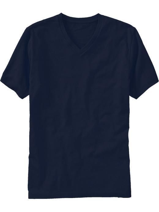 Old Navy Rib knit V neck Short sleeves Softer cotton/polyester blend provides a better fit, while retaining shape with minimal shrinkage Pieced trim inside neck for added durability Tag...