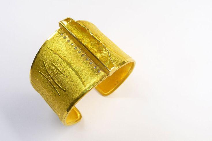 Armreif Gelbgold, Heliodor
