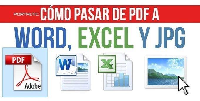 Cómo pasar un archivo PDF a Word, EXCEL y JPG http://sco.lt/...