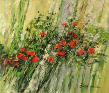 """Saatchi Art Artist Margaret Raven; Painting, """"Poppy expression"""" #art"""