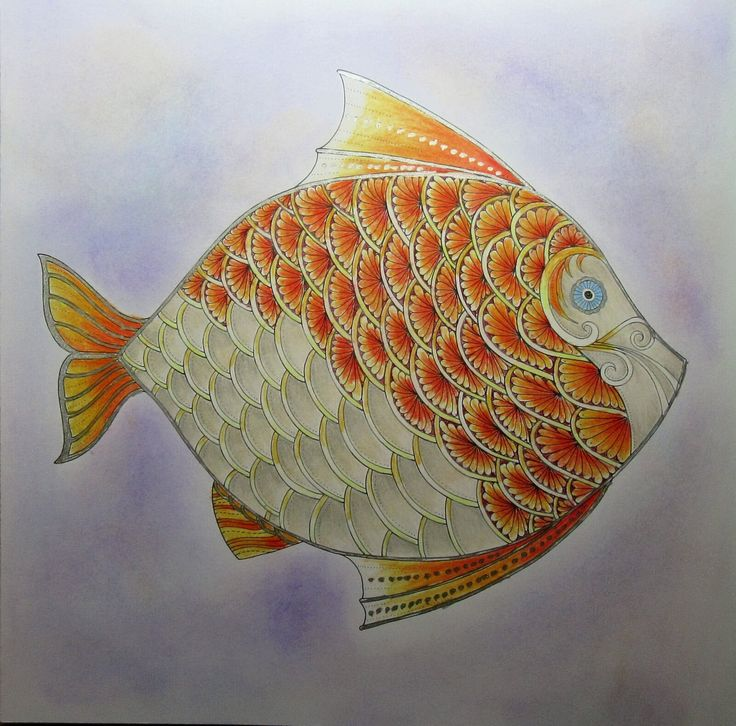 Done With Pencils Pastels And Gel Pens Johanna BasfordGel OceansPastelsColoring BookLostSwimming